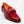 Load image into Gallery viewer, Patent Leather & Suede Slip-On Loafer Red
