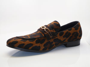 Pony Hair Slip-On Loafer Brown