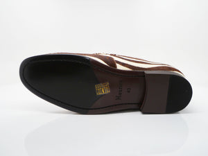 Pony Hair Slip-On Loafer Brown/Cream