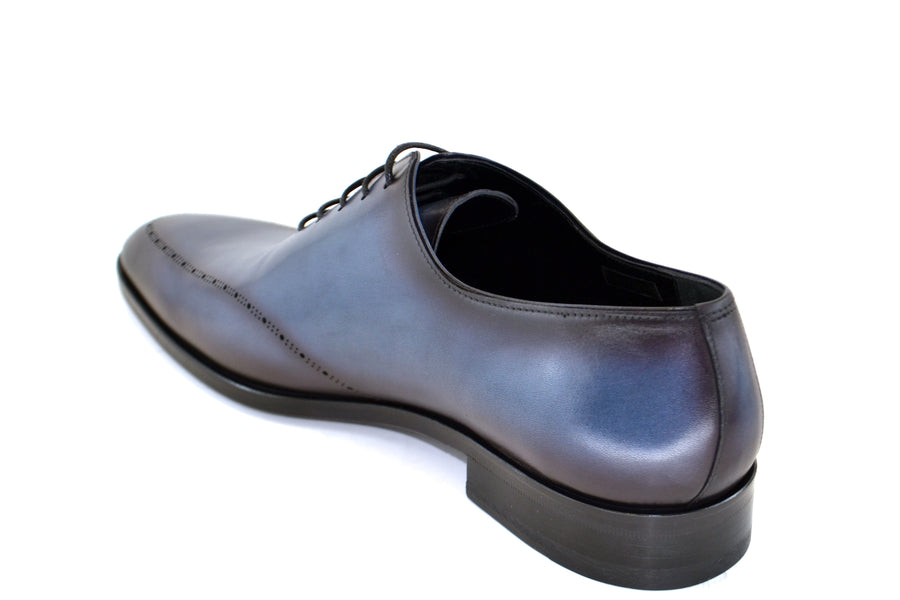 Corrente Burnished Calfskin Lace-Up Oxford Blue