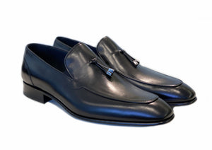 Corrente Calfskin Tasselled Loafer Black