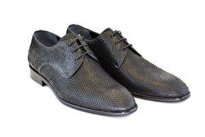 Corrente Python Printed Calfskin Lace-Up Oxford Black
