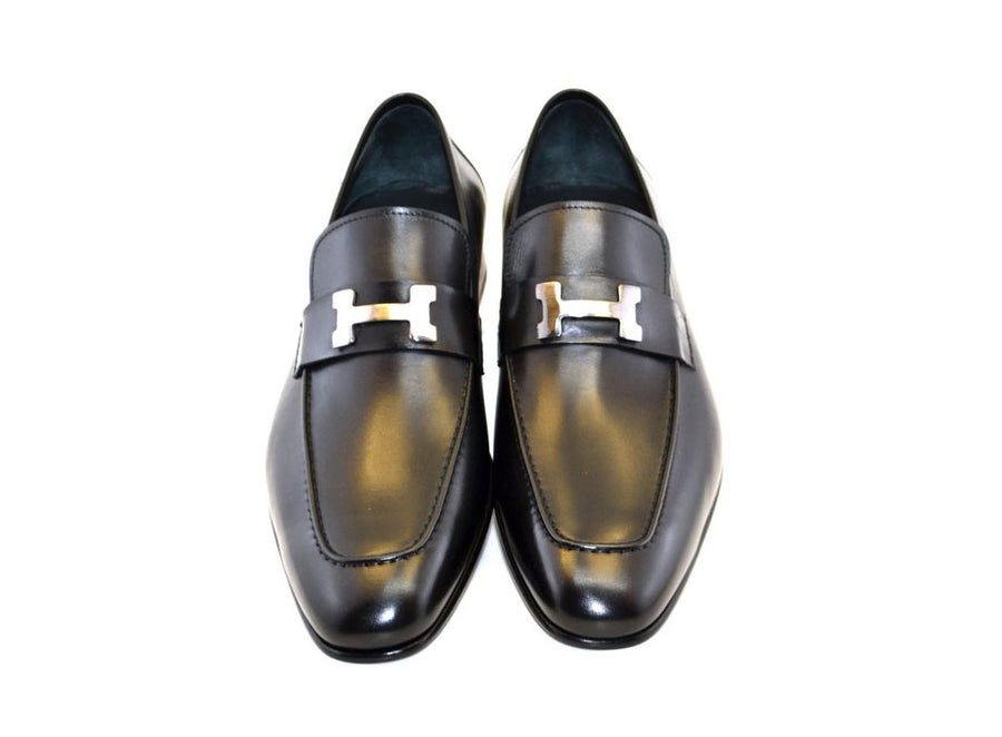 Corrente Burnished Calfskin Loafer Black