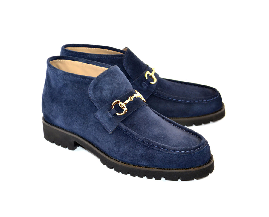 Corrente Suede Slip-On Boot Navy