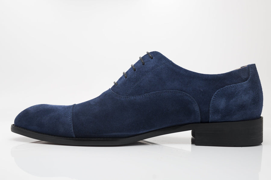 Suede Lace-Up Oxford Navy