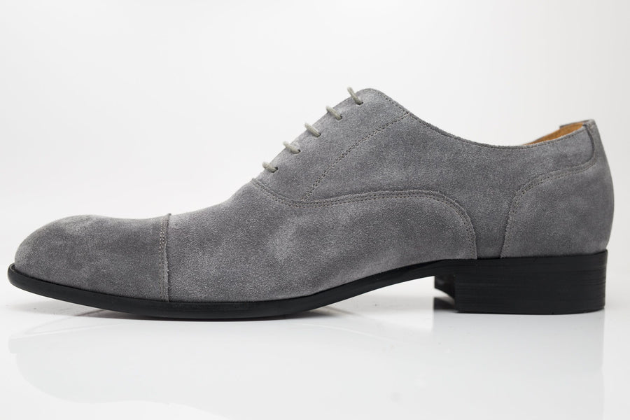 Suede Lace-Up Oxford Grey