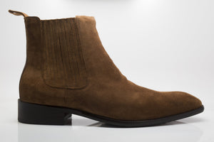 Suede Slip-On Boot Brown