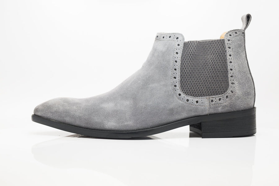 Suede Slip-On Boot Grey