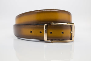 Burnished Calfskin Belt Cognac