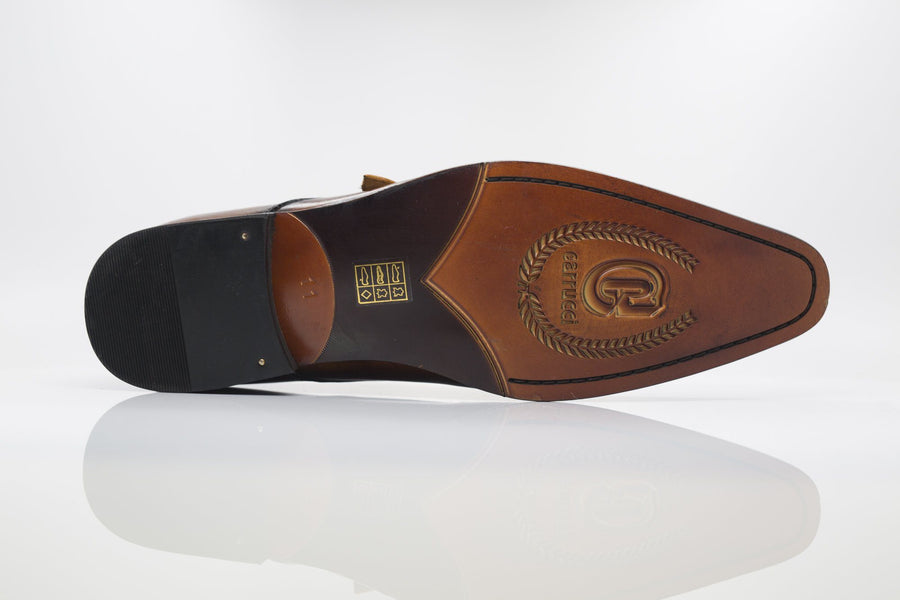 Burnished Calfskin Monkstrap Cognac