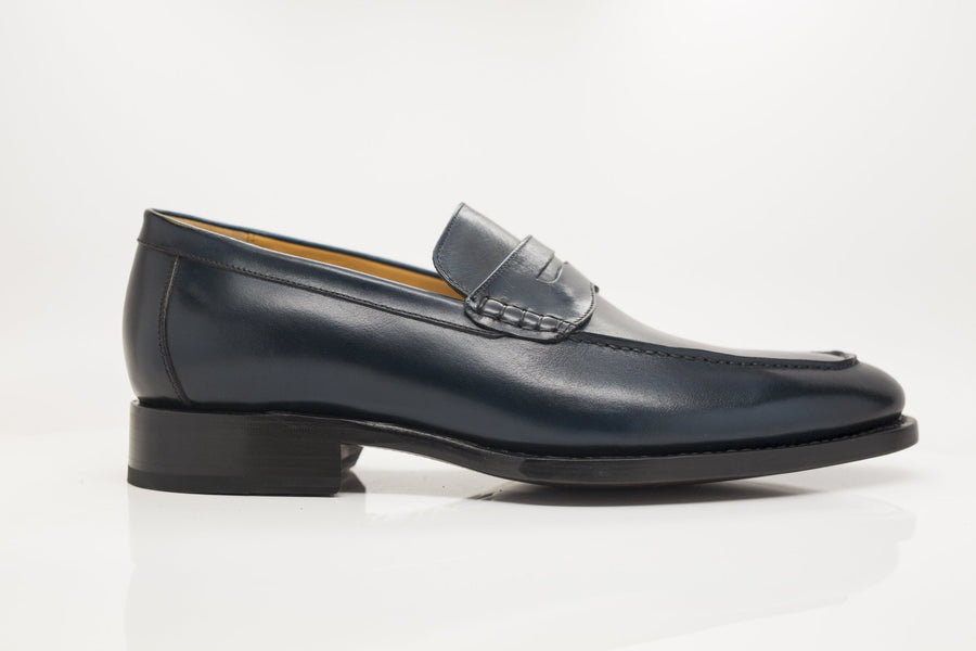 Calfskin Slip-On Penny Loafer Navy