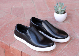 Carrucci by Maurice Calfskin Slip-On Sneaker Black