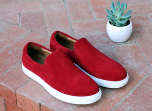 Carrucci by Maurice Suede Slip-On Sneaker Burgundy
