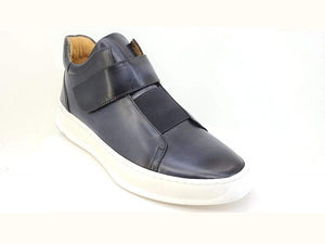 Calfskin High Top Sneaker Grey