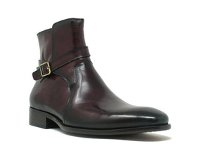 Calfskin Slip-On Boot Burgundy