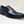 Load image into Gallery viewer, Burnished Calfskin Lace-Up Oxford Navy