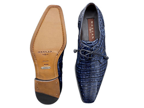 Anderson Lace-Up Oxford Blue