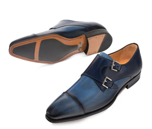 Bardem Double Monkstrap Shoe Blue