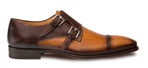 Bardem Double Monkstrap Shoe Tan/Brown