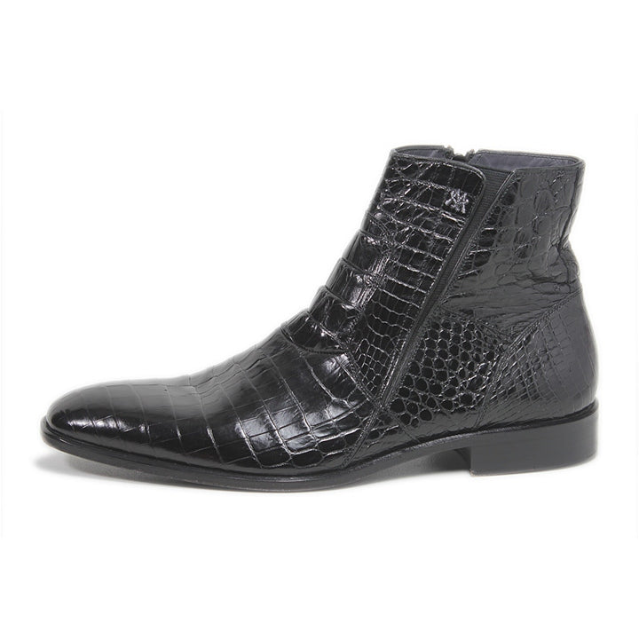 Belucci Alligator Boot Black
