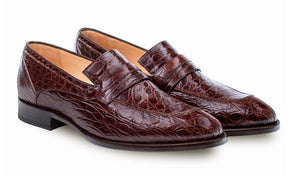 Bixby Crocodile Loafer Brown