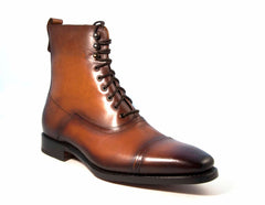 Brady Lace-Up Boot Caramel