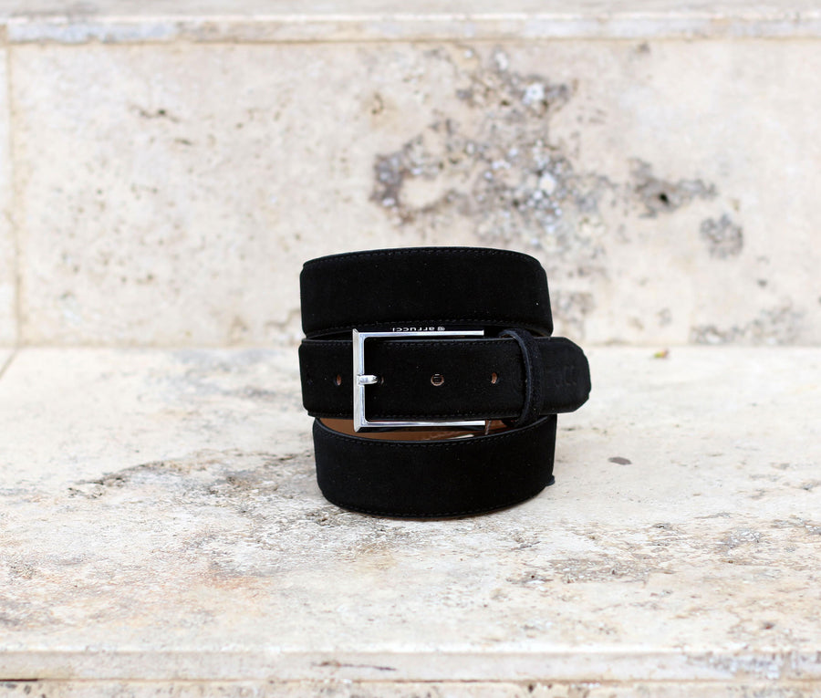 Corrente Suede Belt Black