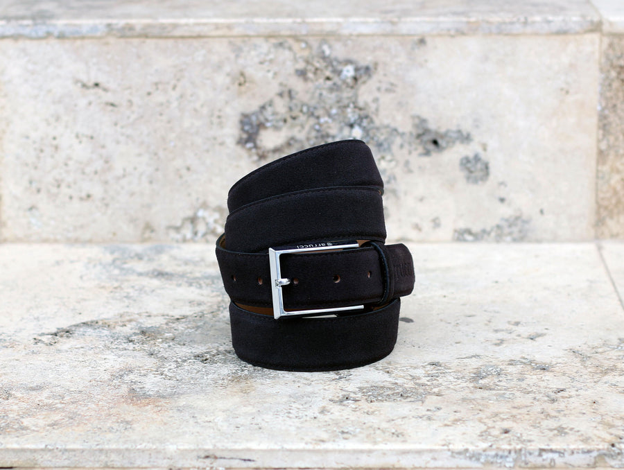 Suede Belt Black