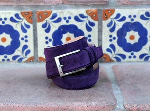 Corrente Suede Belt Purple