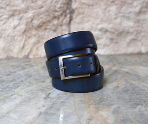 Corrente Calfskin Belt Blue
