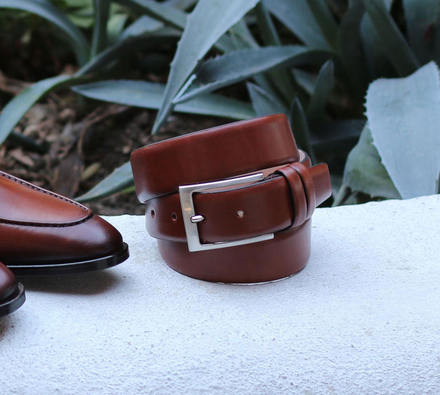 Corrente Calfskin Belt Tan