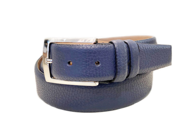 Corrente Deerskin Belt Blue