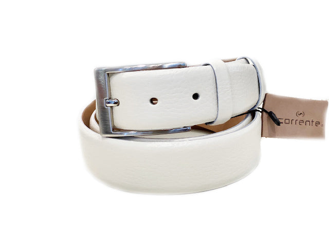 Corrente Deerskin Belt Bone