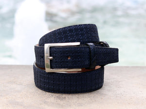 Corrente Suede Belt Navy