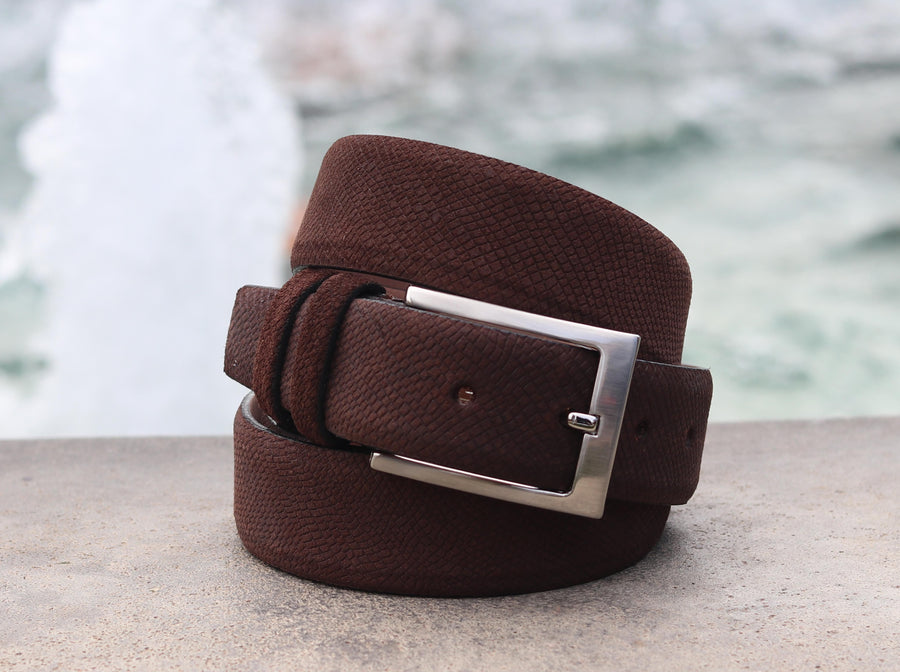 Corrente Suede Belt Brown