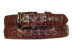 Crocodile Belt Burgundy