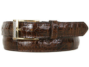 Baby Crocodile Belt Brown