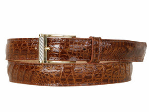 Baby Crocodile Belt Cognac