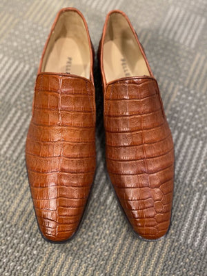 Pelle Exotics Crocodile Slip-On Loafer Tan