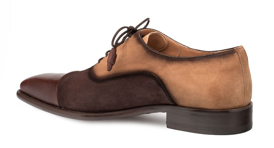 Mezlan Drayton Lace-Up Oxford Brown/Cognac