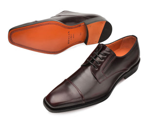 Mezlan Emilio Lace-Up Oxford Burgundy