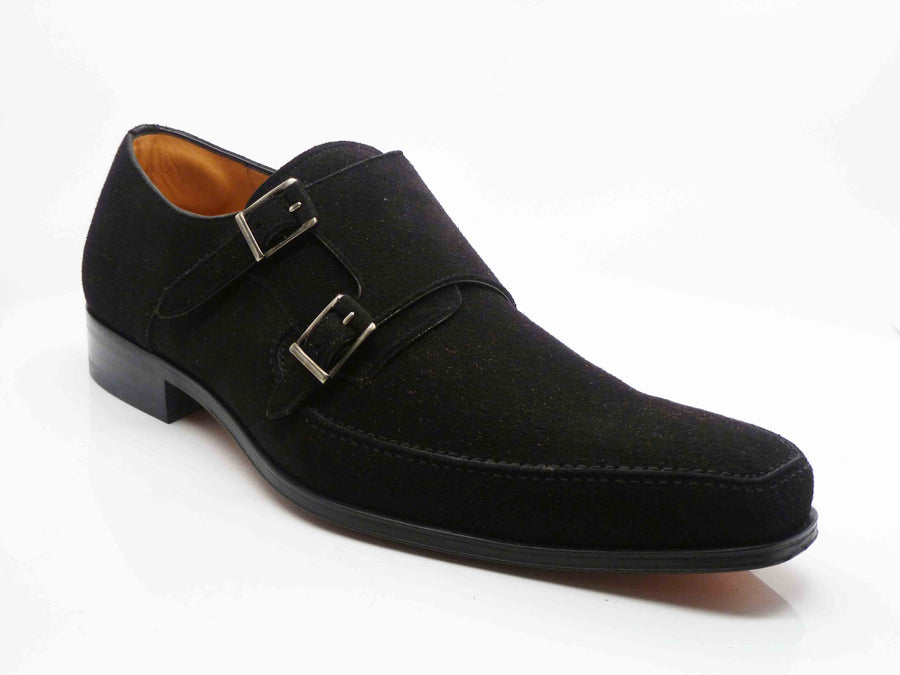 Enrique Double Monkstrap Shoe Black