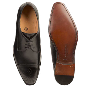 Mezlan Calfskin Lace-Up Oxford Black
