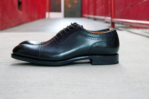 Gaelic Cap Toe Oxford Black