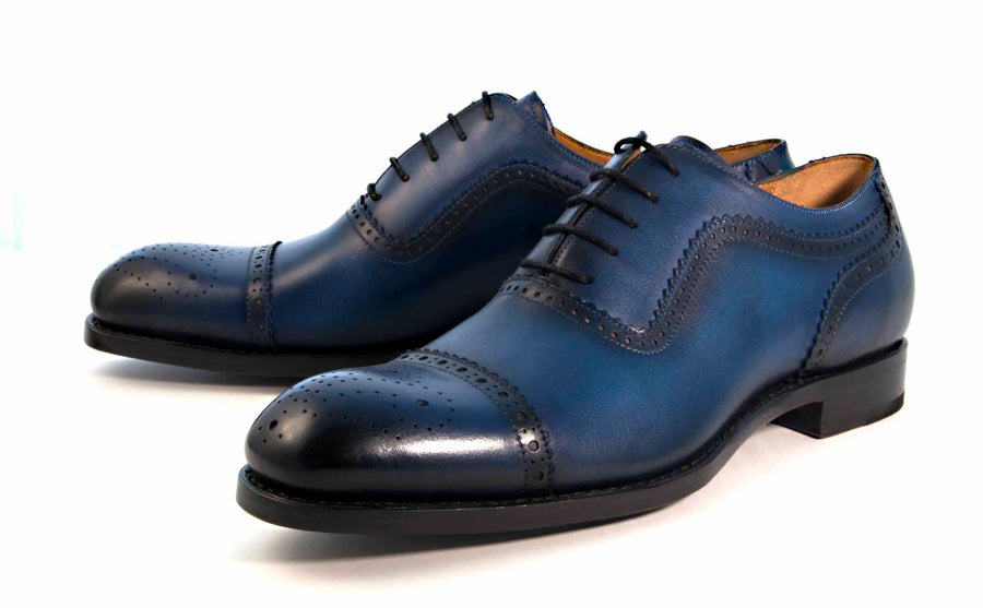 Gaelic Cap Toe Oxford Navy