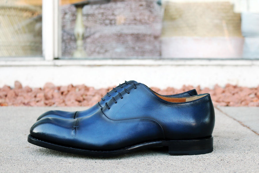 Gianni Cap Toe Oxford Navy