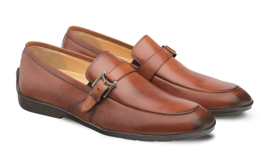 Mezlan Granby Slip-On Loafer Cognac