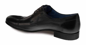 Mezlan Homar Lace-Up Blucher Oxford Black