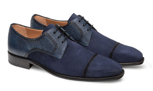 Mezlan Janus Lace-Up Oxford Blue