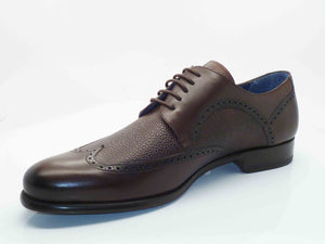 Mezlan Calfskin Wingtip Oxford Brown